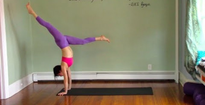60 Minute Vinyasa Yoga Class With Handstand Play Level 2 3 Intermediate Advanced